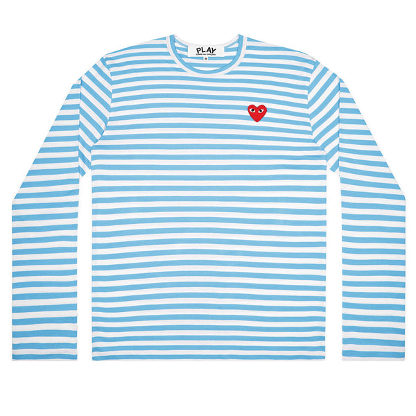 COMME des GARCONS PLAY Bright Striped Longsleeve Blue / White