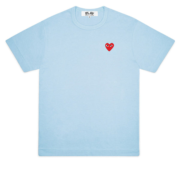 COMME des GARCONS PLAY Bright Red Heart T-Shirt Blue