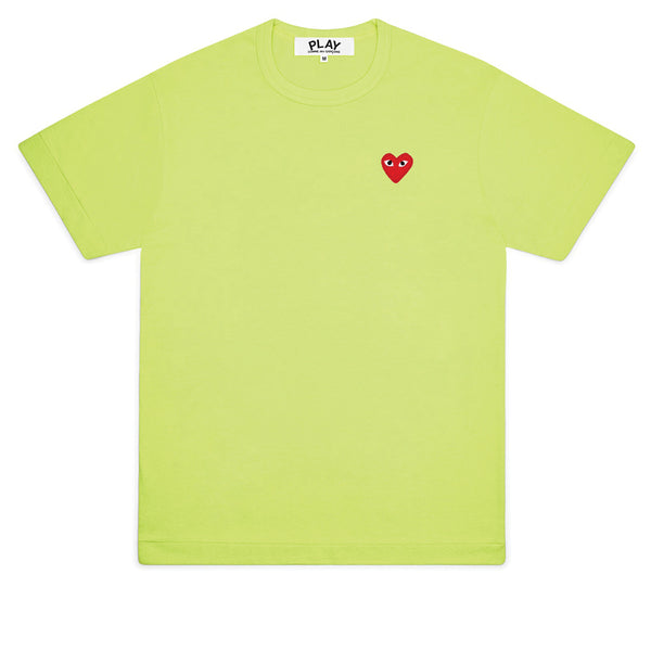 COMME des GARCONS PLAY Bright Red Heart T-Shirt Green