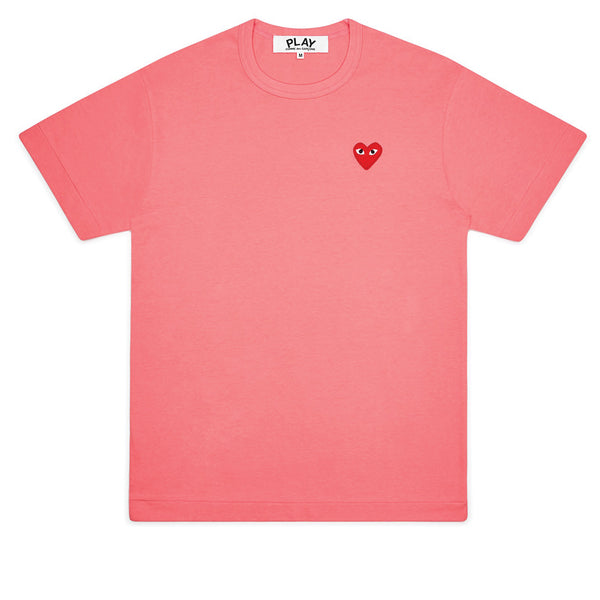 COMME des GARCONS PLAY Bright Red Heart T-Shirt Pink