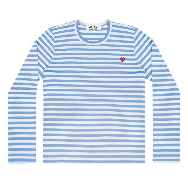 COMME des GARCONS PLAY Colour Series Striped Longsleeve Blue / White