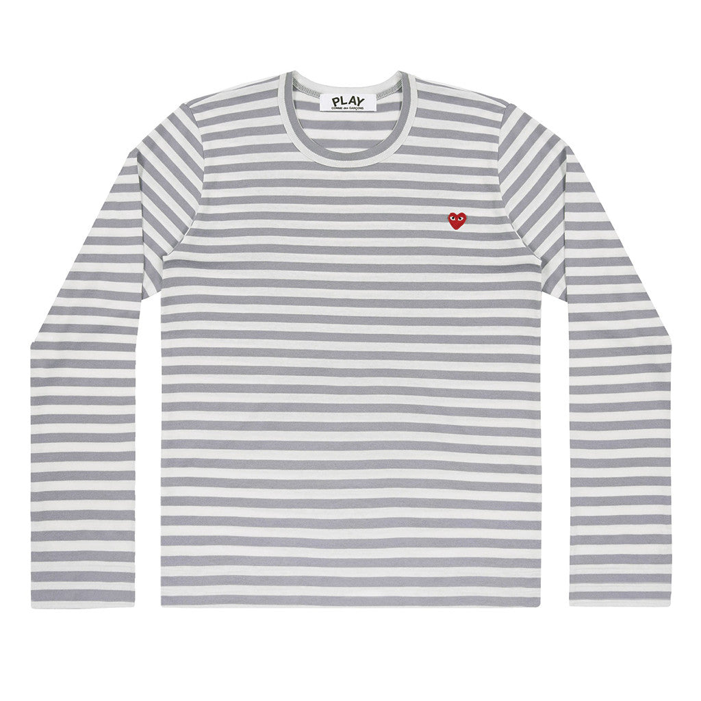 COMME des GARCONS PLAY Colour Series Striped Longsleeve Grey / White