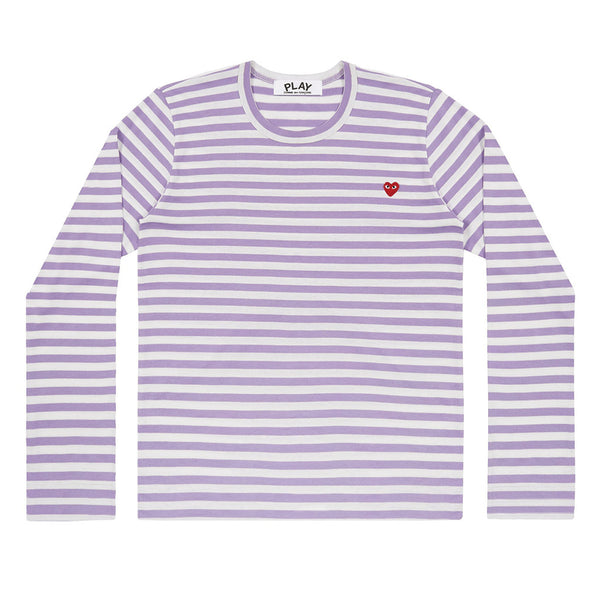 COMME des GARCONS PLAY Colour Series Striped Longsleeve Purple / White