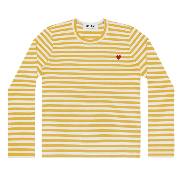 COMME des GARCONS PLAY Colour Series Striped Longsleeve Yellow / White