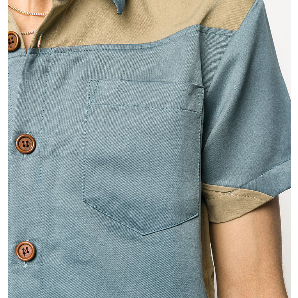 Youths in Balaclava Short Sleeve Shirt Blue