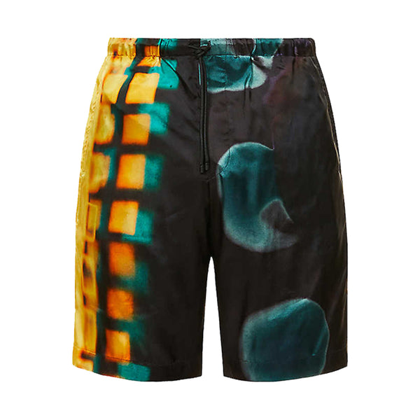 Dries van Noten Len Lye Print Piperi Shorts Yellow