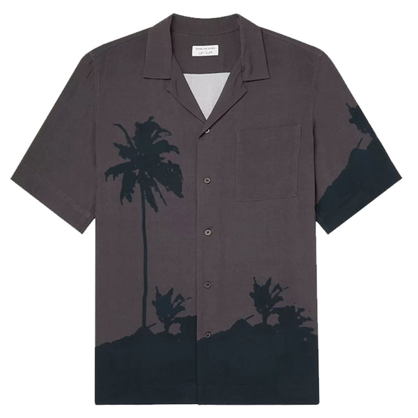 Dries van Noten Len Lye Palm Tree Carltone Shirt Grey