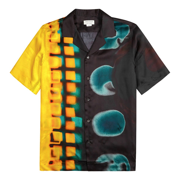 Dries van Noten Len Lye Graphic Carltone Shirt Yellow