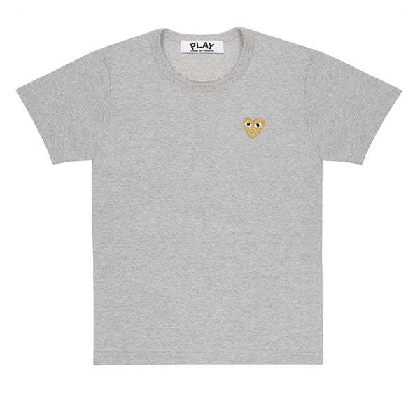 Gold Heart T-Shirt Grey