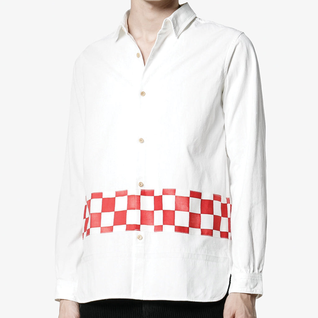 visvim Longrider Shirt Checkerboard Border Red