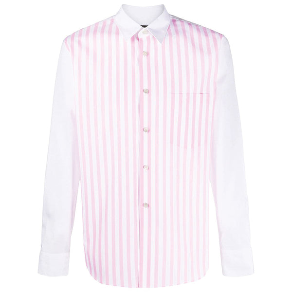 COMME des GARCONS Homme Plus Pink Striped Shirt Pink / White PD-B001-051-2