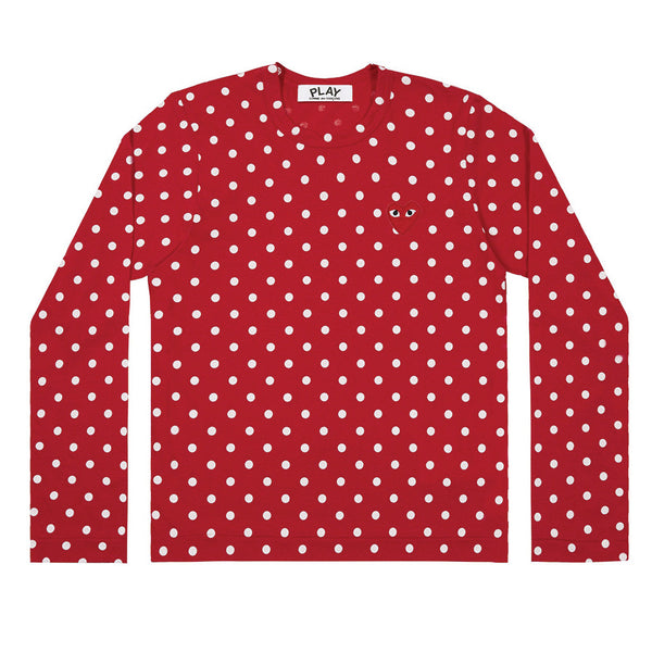 Polka Dot Longsleeve Red