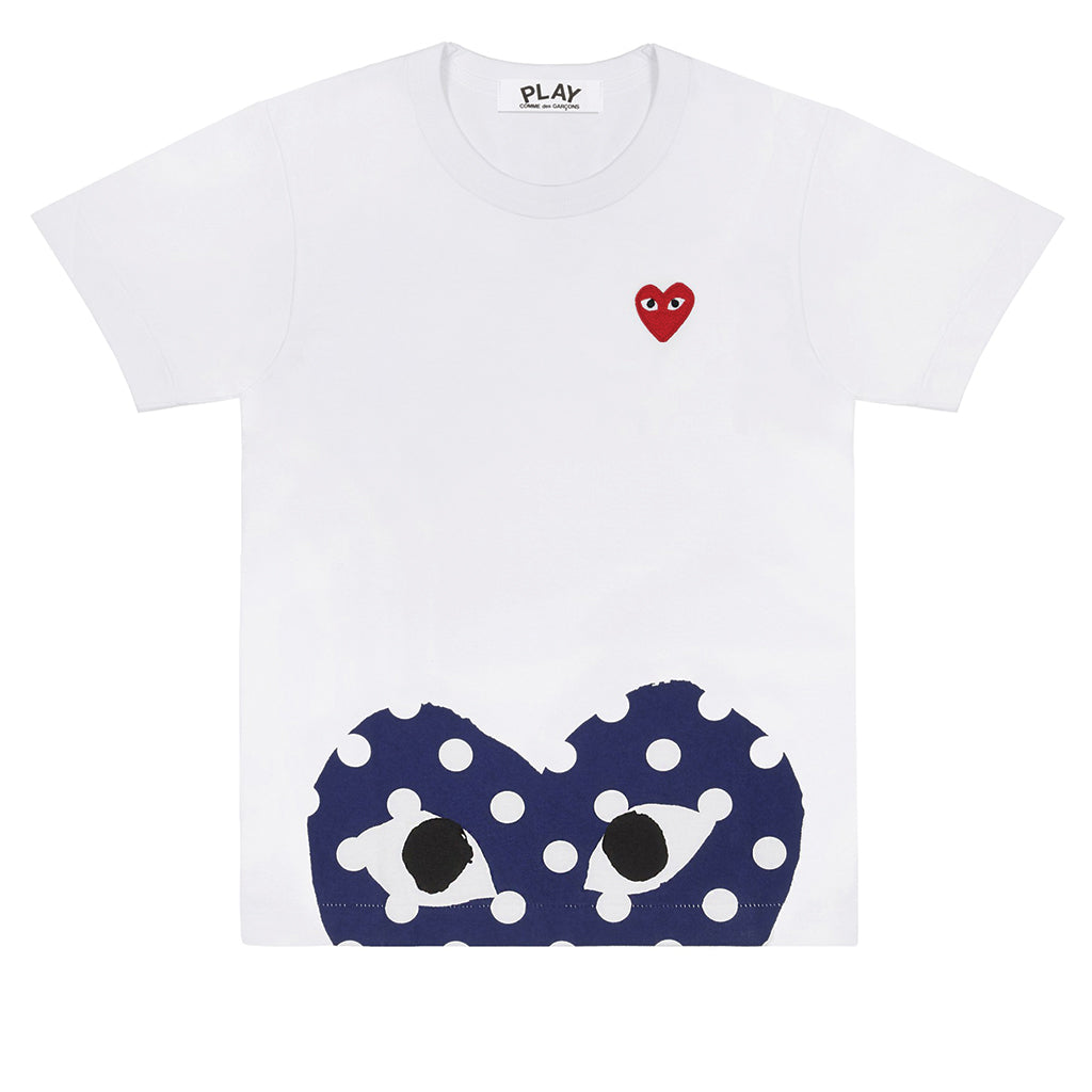 COMME des GARCONS PLAY Polka Dot Low Heart T-Shirt