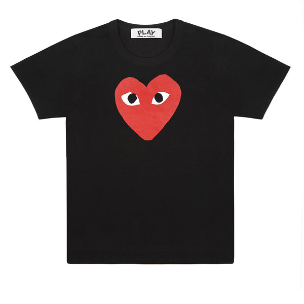 COMME des GARCONS PLAY Red Heart T-Shirt Black T0K10 Store Rotterdam