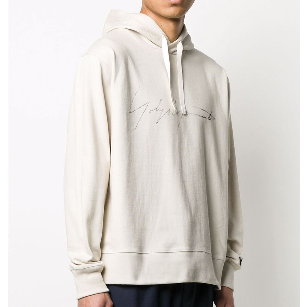 adidas Y-3 Yohji Yamamoto Distressed Signature Graphic Hooded Sweatshirt for Men