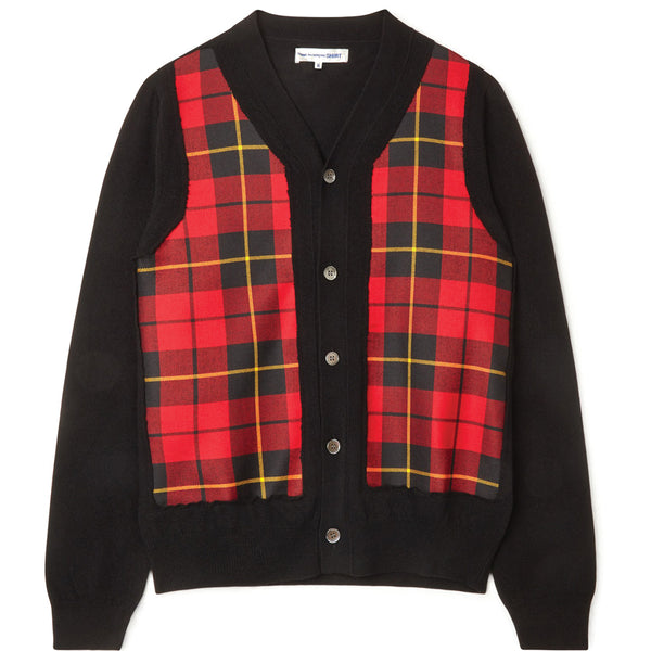 COMME des GARCONS SHIRT Tartan Check Knitted Cardigan W28511