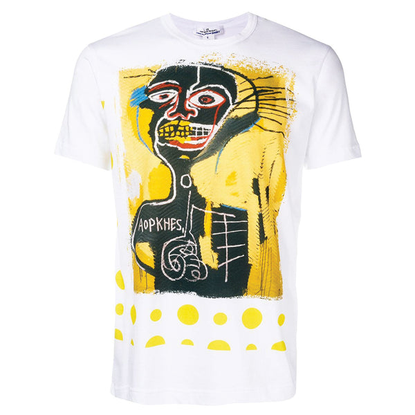 COMME des GARCONS SHIRT x BASQUAIT Artwork T-Shirt Yellow Polka Dot