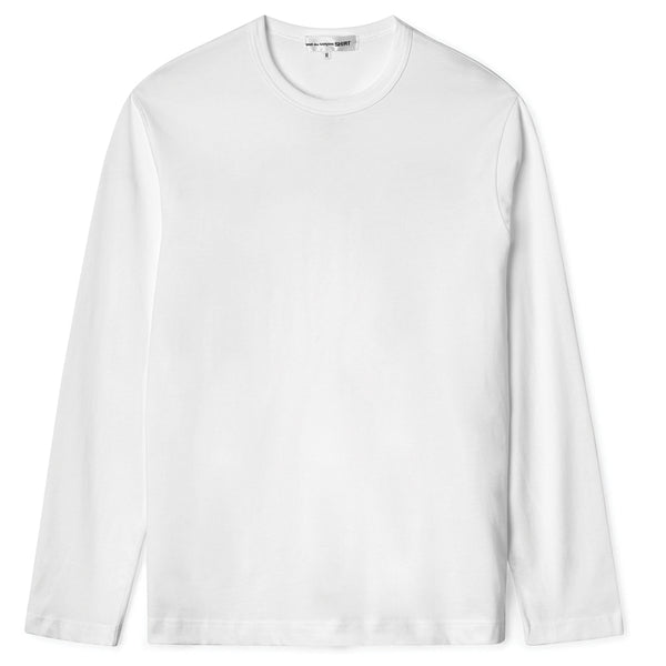COMME des GARCONS SHIRT Backside Logo Printed Longsleeve White W28115