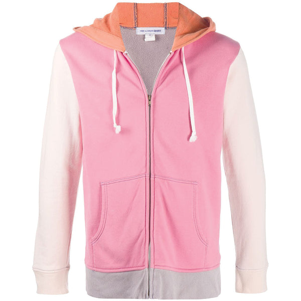 Colour Mix Logo Hooded Zip-Up Sweatshirt