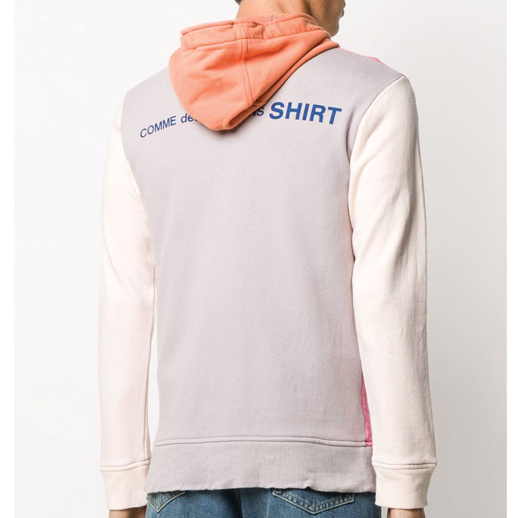 COMME des GARCONS SHIRT Colour Mix Logo Hooded Zip-Up Sweatshirt SALE
