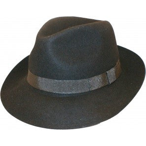Fedora Hat with Grosgrain Ribbon Band