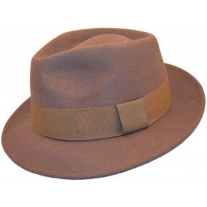 Fedora with grosgrain ribbon band