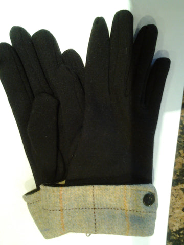 Tweed Cuff One Size Gloves