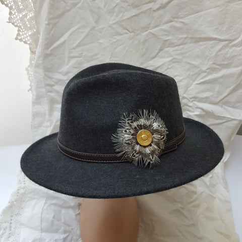 Fedora Hat New Colour Charcoal Grey