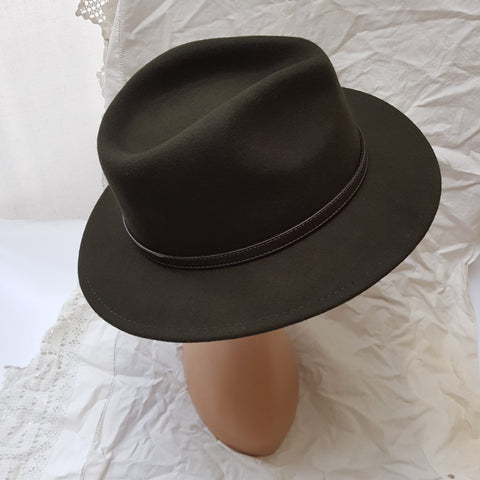 Dark Olive Green Fedora