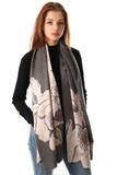 Super Soft Large Scarf with Illustrated Flowers