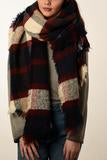 Super Soft Tartan Checkered Blanket Scarf