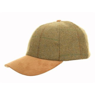 Unisex Tweed B-Ball with Faux Suede Peak