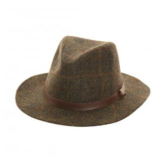 Unisex Dark Tweed Fedora
