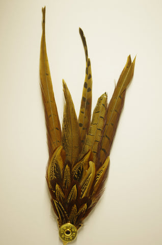 Fan shaped Feather Brooch