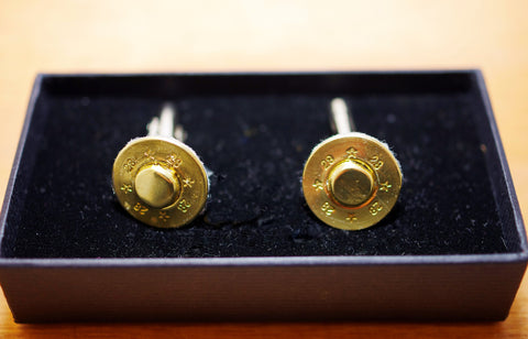 Gun Shell End Cuff Links