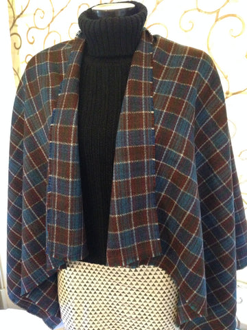 100% Welsh Wool Check Pattern Wrap