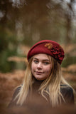 100% Wool Felt Hat in Burgundy