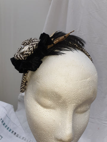 Limited Edition Black and White Tweed Headband