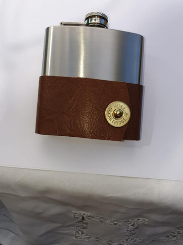 Limited Edition Hip Flask With Cartridge Decoration
