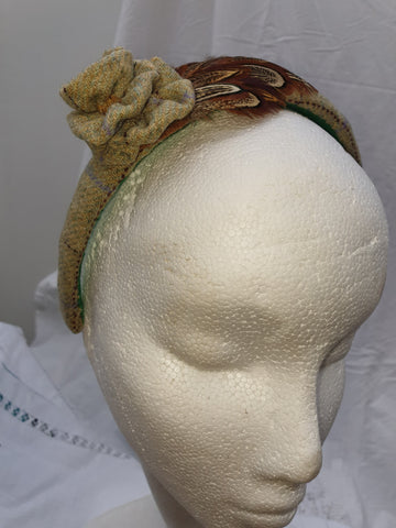 Limited Edition Light Green Tweed Head Band