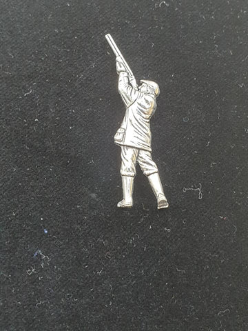 Pewter Tie Pin / Pin Badge Shooting Man Design.