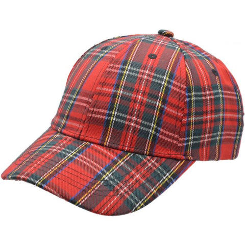 Scottish Tartan Baseball Cap