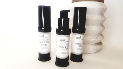 Moisturizing primer for face with hyaluronic acid raw beauty minerals 100 percent pure