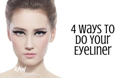 4 ways to do your eyeliner with raw beauty minerals guide