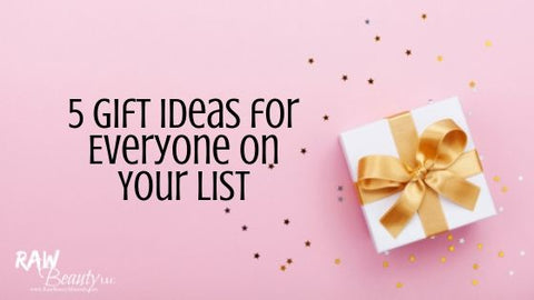 5 Gift Ideas for Everyone on Your List white gift box gold bow