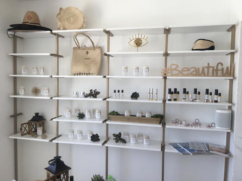 Raw Beauty Minerals on the shelves in Aruba