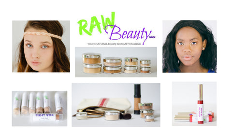 natural and vegan cosmetics and skincare product line raw beauty minerals