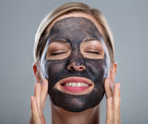 charcoal and clay mud mask