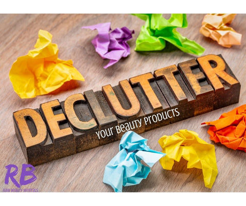 declutter your beauty products