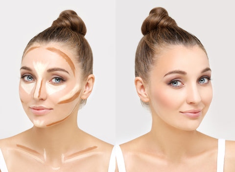 highlight and contour with raw beauty minerals creme foundation sticks